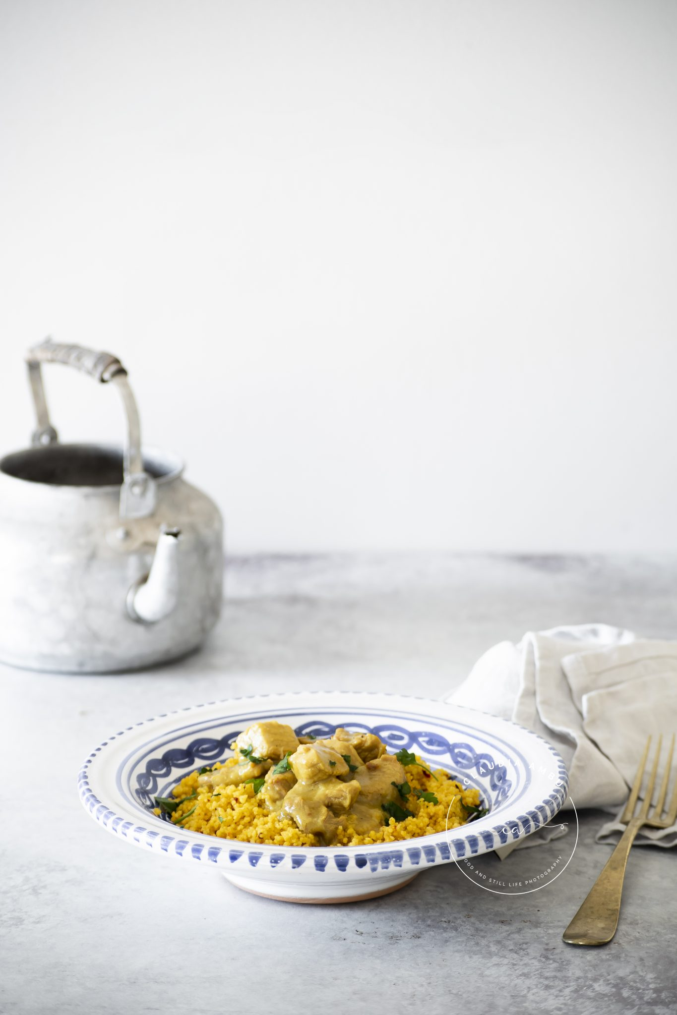 Vitello al curry con couscous speziato